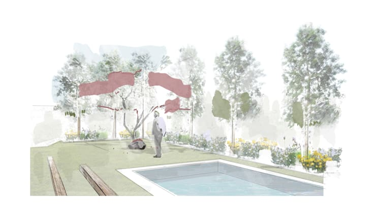 Taman oleh Estudio Amani, Minimalis