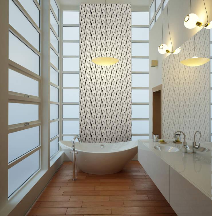 Baños de estilo  por Kromart Wallcoverings - Papel Tapiz Personalizado , Clásico