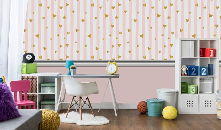 Habitaciones para niñas de estilo  por Kromart Wallcoverings - Papel Tapiz Personalizado , Moderno