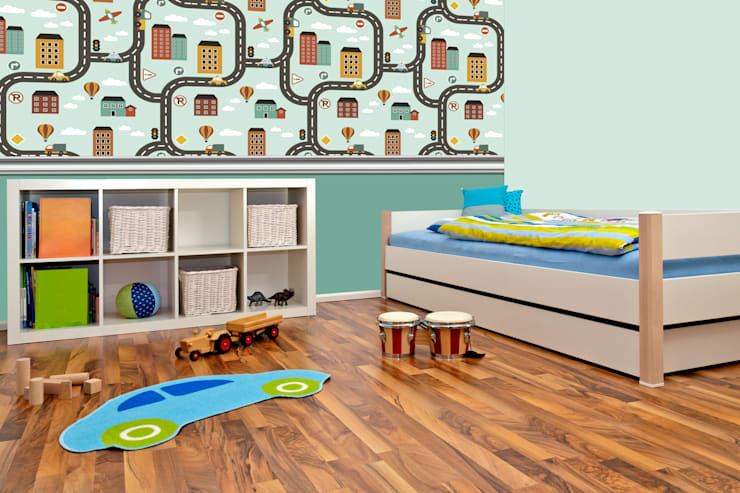 Boys Bedroom by Kromart Wallcoverings - Papel Tapiz Personalizado