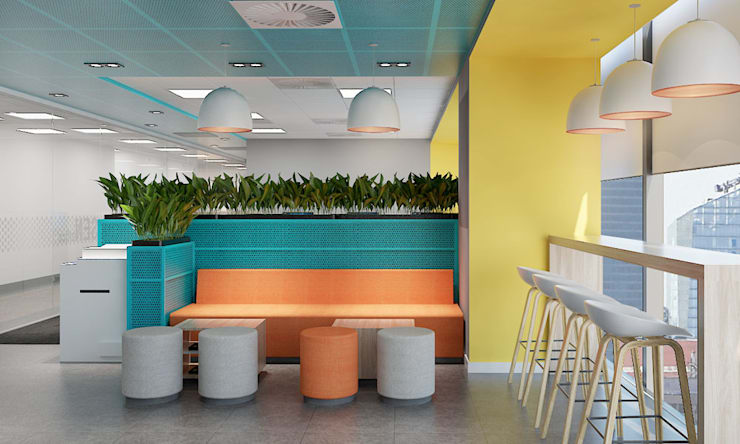 thiết kế nội thất văn phòng SEN office hiện đại & độc đáo tại gò vấp tp HCM:  Phòng học/Văn phòng by công ty thiết kế văn phòng hiện đại CEEB
