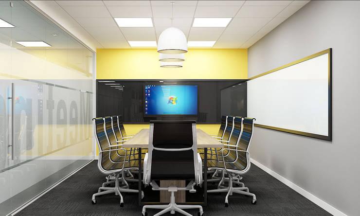 thiết kế nội thất phòng họp SEN office hiện đại & độc đáo tại gò vấp tp HCM:  Phòng học/Văn phòng by công ty thiết kế văn phòng hiện đại CEEB
