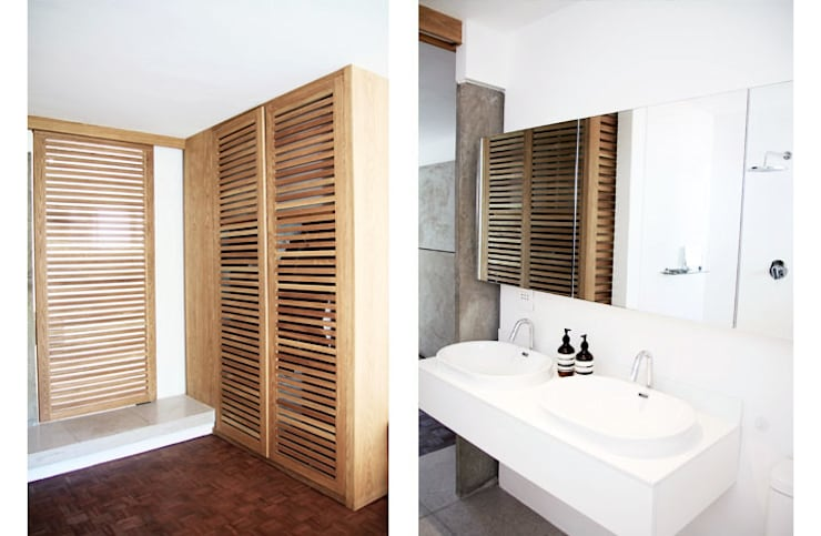 Main Bathroom & Bedroom:  Dressing room by Metaphor Design