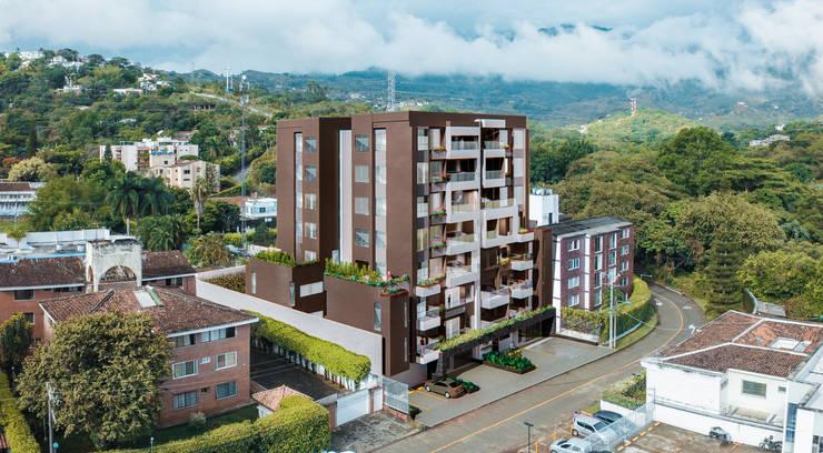 ALEXANDRIA TOWER: Conjunto residencial de estilo  por Constructora Cosenza, Moderno