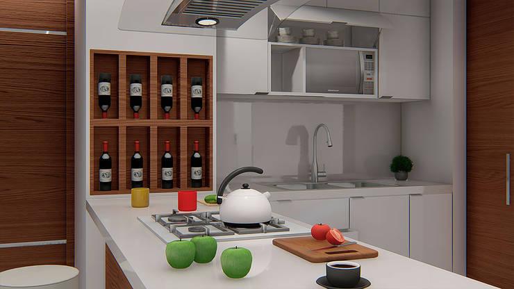 CAVA DE VINOS: Cocinas de estilo  por Constructora Cosenza, Moderno