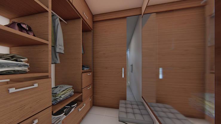 VESTIER: Baños de estilo  por Constructora Cosenza, Moderno Madera Acabado en madera
