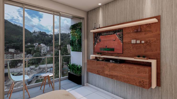 VISTA A LOS CERROS : Habitaciones de estilo  por Constructora Cosenza, Moderno