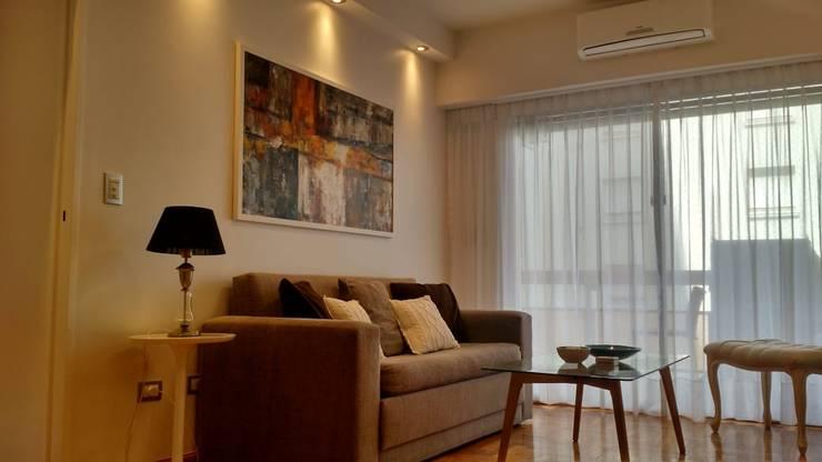 Living Comedor - Las Cañitas:  de estilo  por Arquimundo 3g - Diseño de Interiores - Ciudad de Buenos Aires,