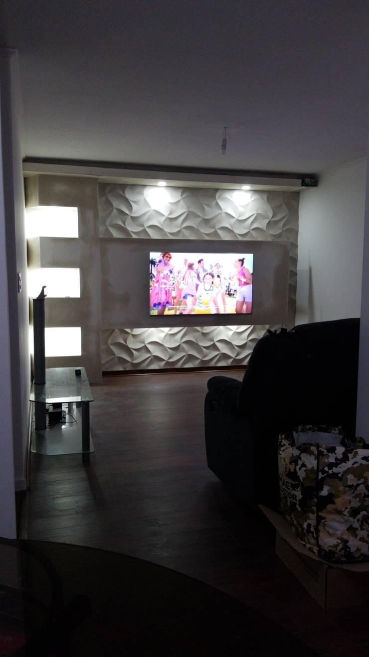 Mueble  para tv :  de estilo  por Baluarte decoraciones