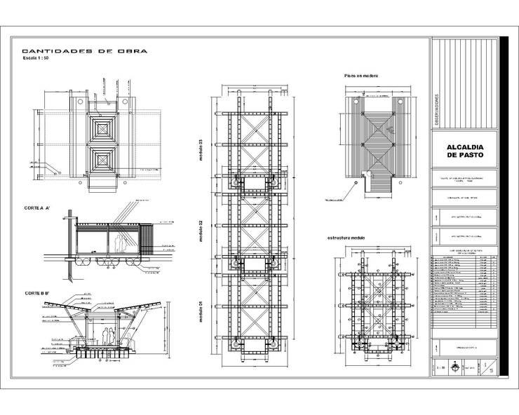 Muelle Modular flotante La Cocha - Año 2010:  de estilo  por EHG arquitectura y construcción