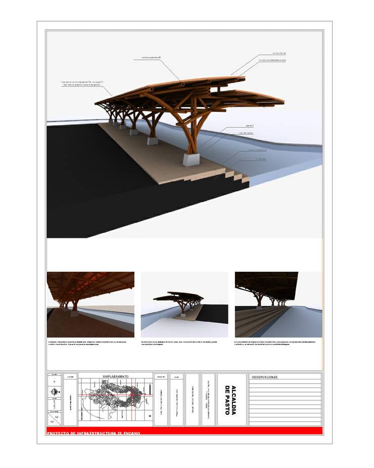 Muelles La Cocha  renovación segundo embarcadero Vereda el Puerto - Año 2010:  de estilo  por EHG arquitectura y construcción
