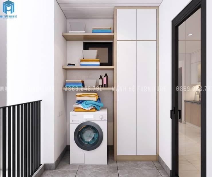 Thiết kế nội thất căn hộ chung HaDo Centrosa Garden 86m2 có 2 phòng ngủ – Cô Hồng, Quận 10, TP.HCM:  Mái hiên by Công ty TNHH Nội Thất Mạnh Hệ