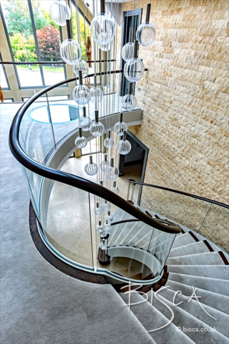 5510 - Helical Staircase:  Stairs by Bisca Staircases, Classic Iron/Steel