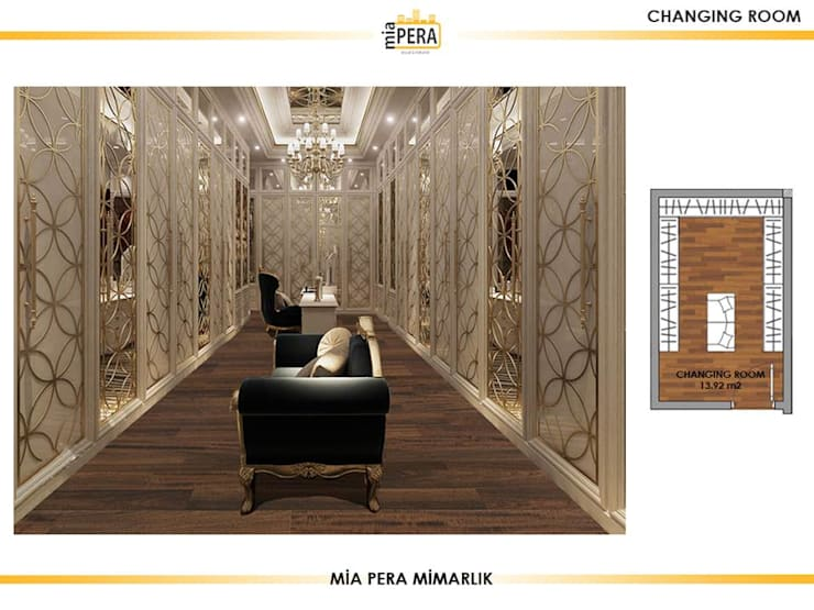 Dressing room by Miapera MİMARLIK