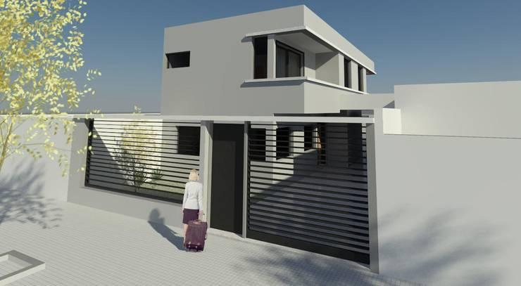 VIVIENDA UNIFAMILIAR BARRIO LA LOMA - LA PLATA.: Casas unifamiliares de estilo  por DF ARQ,