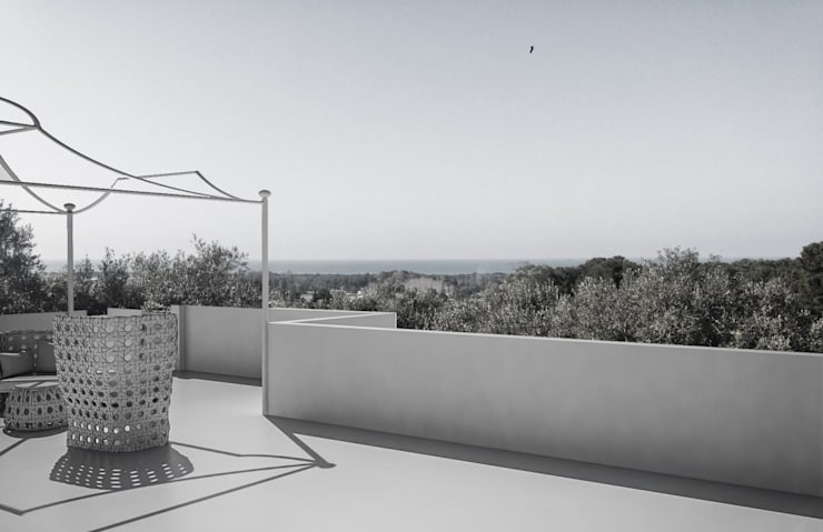 Terrace by architetto stefano ghiretti, Modern