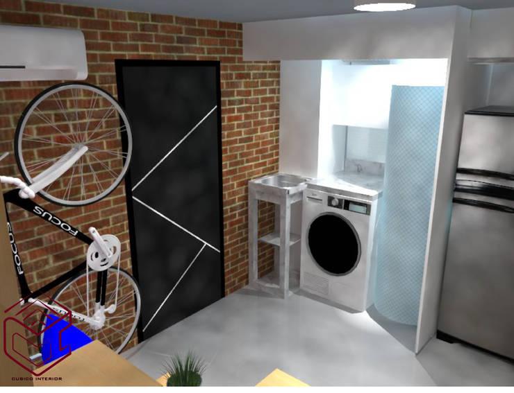 Vista De logia, esta incluye Puertas: Bodegas de estilo  por Cubicointerior