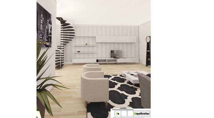 Diseño y Decoración de Espacios Modernos y vanguardistas : Salas de estilo  por SaArquitectos, Minimalista