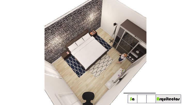 Diseño y Decoración de Espacios Modernos y vanguardistas : Habitaciones de estilo  por SaArquitectos, Minimalista