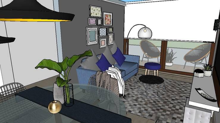 living terraza: Livings de estilo  por Cubicointerior