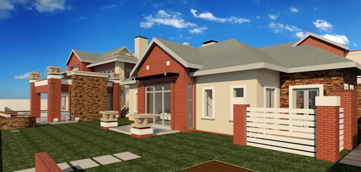 render of ground floor:  Houses by Nuclei Lifestyle Design