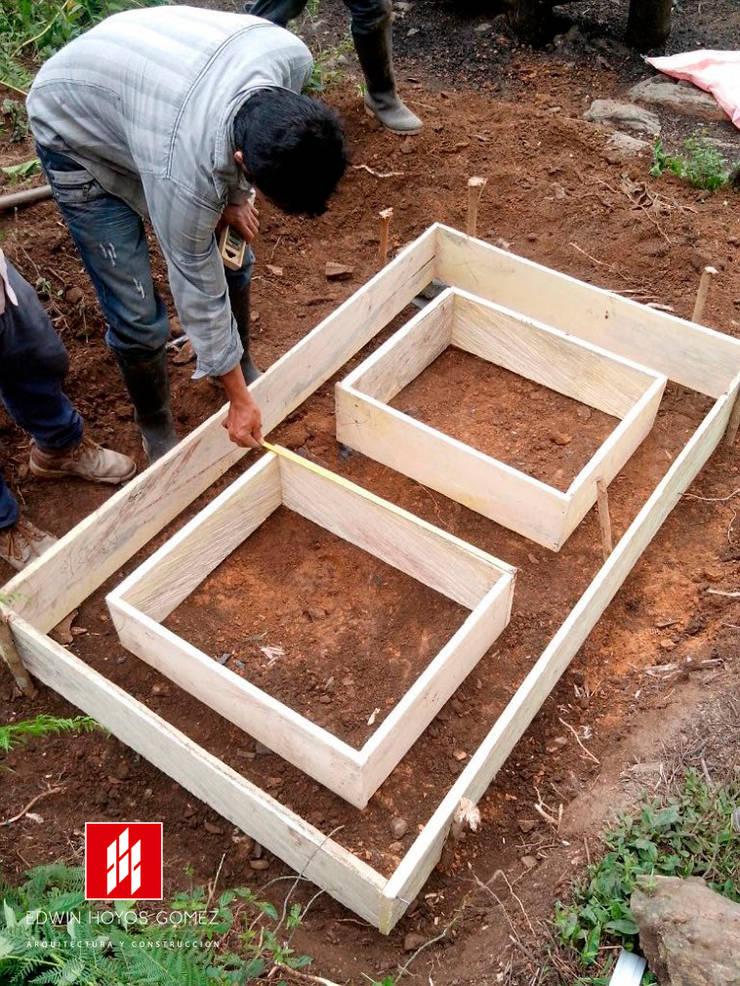 Beneficiaderos en 100 fincas Cafeteras Cundinamarca - Año 2015:  de estilo  por EHG arquitectura y construcción