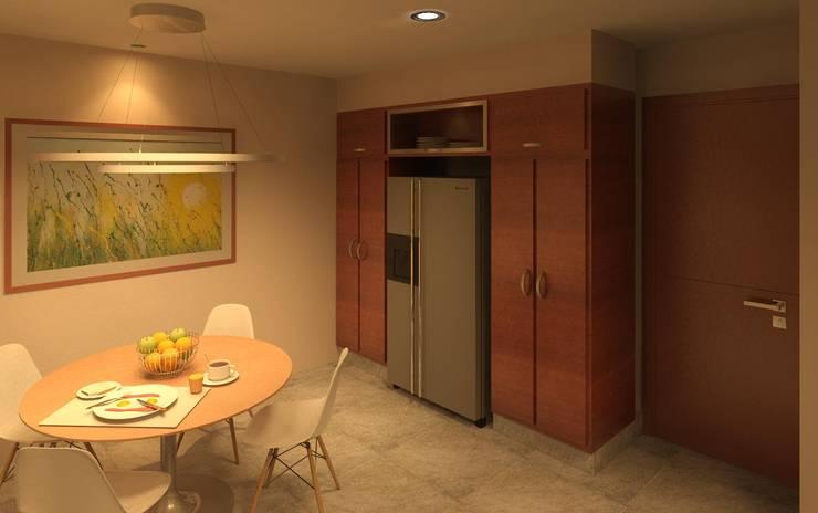 Cocina: Muebles de cocinas de estilo  por Arq Eduardo Galan, Arquitectura y paisajismo