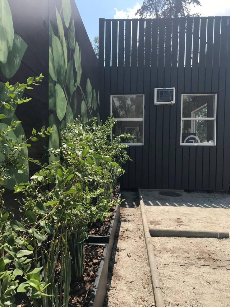 Jardineras Zona Estacionamientos: Oficinas y Comercios de estilo  por Tallo Taller