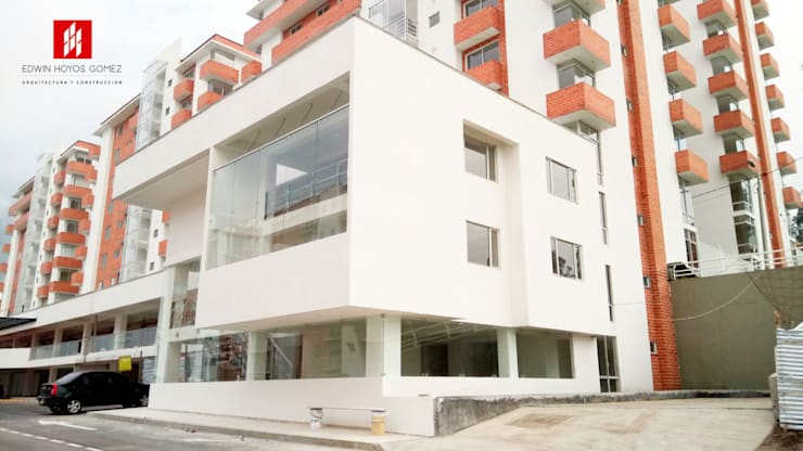 Diseño e interventoria Edificio de Oficinas Constructora Enriquez Asociados SAS. - Año 2016:  de estilo  por EHG arquitectura y construcción