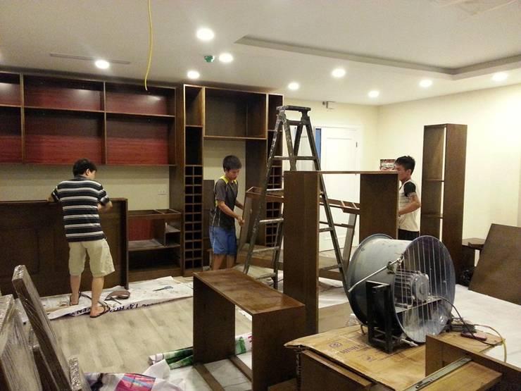 Thiết kế nội thất cho căn hộ nhỏ 38m2 nhà chị Nhàn:  Household by CÔNG TY CỔ PHẦN THƯƠNG MẠI, THIẾT KẾ VÀ TRANG TRÍ NỘI THẤT ATZ VIỆT NAM