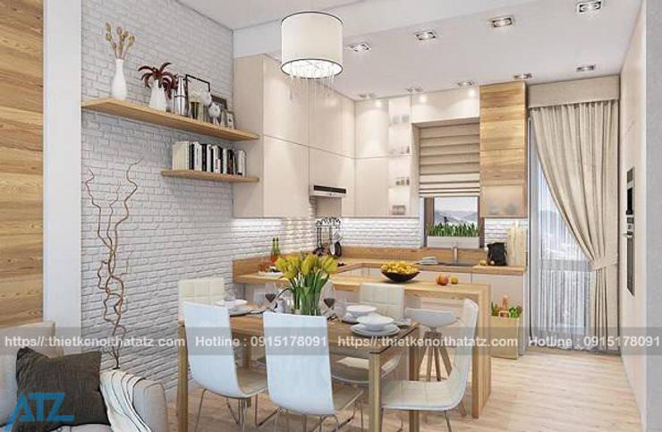 Thiết kế thi công nội thất chung cư nhỏ cho nhà chị nhàn:  Household by CÔNG TY CỔ PHẦN THƯƠNG MẠI, THIẾT KẾ VÀ TRANG TRÍ NỘI THẤT ATZ VIỆT NAM
