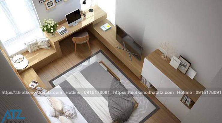 Thiết kế thi công nội thất chung cư nhỏ cho nhà chị nhàn:  Dining room by CÔNG TY CỔ PHẦN THƯƠNG MẠI, THIẾT KẾ VÀ TRANG TRÍ NỘI THẤT ATZ VIỆT NAM