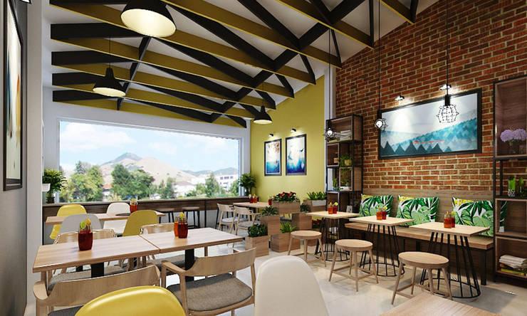 thiết kế quán ăn:  Phòng giải trí by công ty thiết kế nhà hàng & quán cafe Hiện đại CEEB