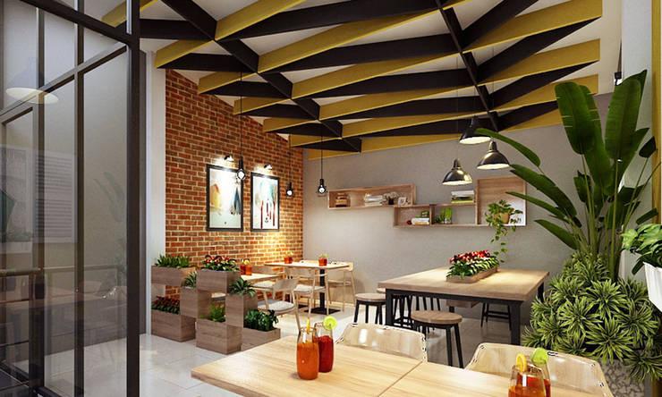 quán cafe:   by công ty thiết kế nhà hàng & quán cafe Hiện đại CEEB