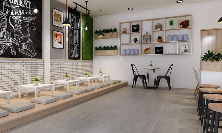 thiết kế quán trà sữa hiện đại:   by công ty thiết kế nhà hàng & quán cafe Hiện đại CEEB
