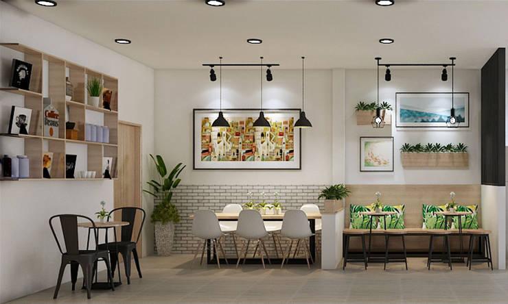 thiết kế tiệm trà sữa:   by công ty thiết kế nhà hàng & quán cafe Hiện đại CEEB