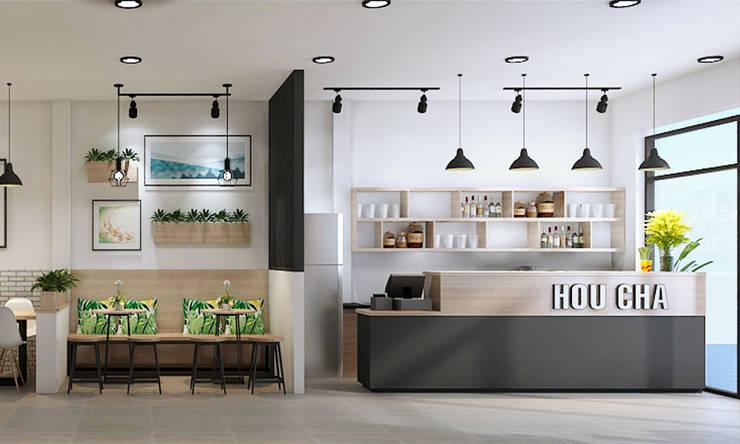 trà sữa hiện đại:   by công ty thiết kế nhà hàng & quán cafe Hiện đại CEEB