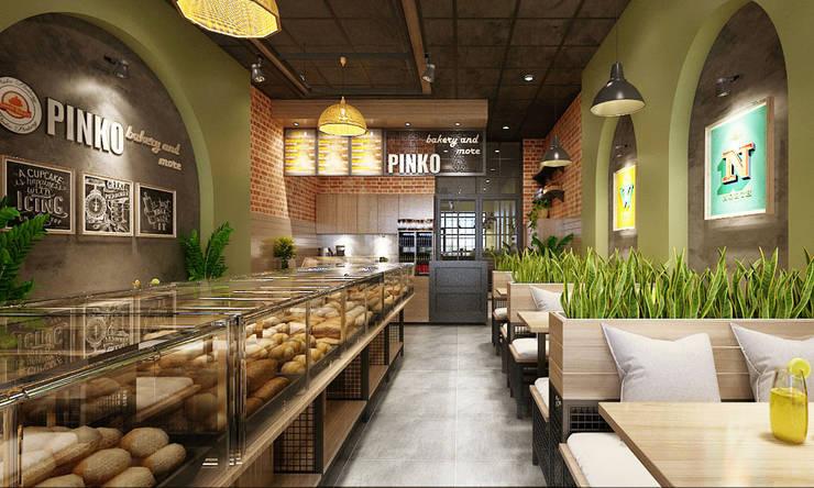 tiệm bánh:   by công ty thiết kế nhà hàng & quán cafe Hiện đại CEEB