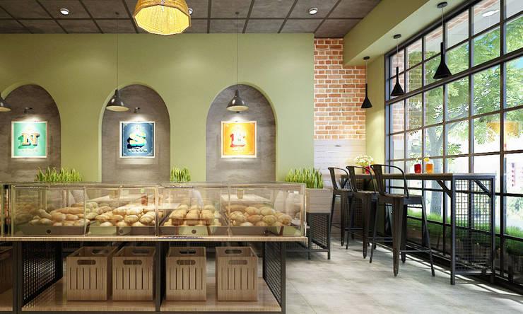 thiết kế nội thất tiệm bánh:   by công ty thiết kế nhà hàng & quán cafe Hiện đại CEEB