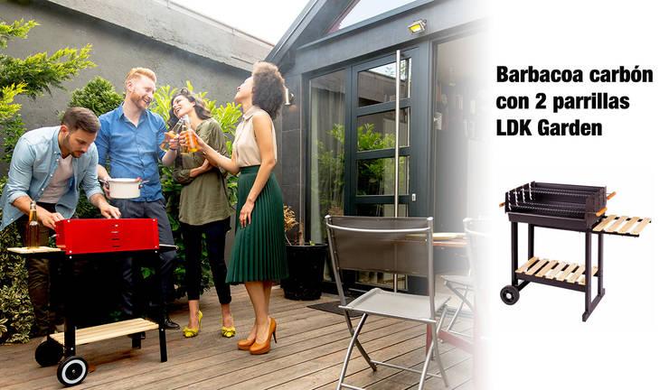 ¿Una barbacoa de carbón y leña?: Jardín de estilo  de ferrOkey - Cadena online de Ferretería y Bricolaje