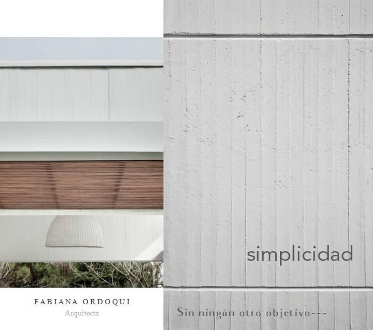 Fabiana Ordoqui  Estudio de Arquitectura|Diseño|Decoración:  de estilo  por Fabiana Ordoqui  Arquitectura y Diseño.   Rosario | Funes |Roldán,