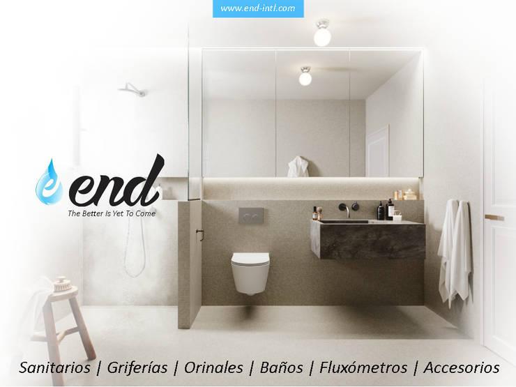 Lineas de Producto para Baños - Usamos Eficientemente el Agua:  de estilo  por End International, Moderno Cerámica