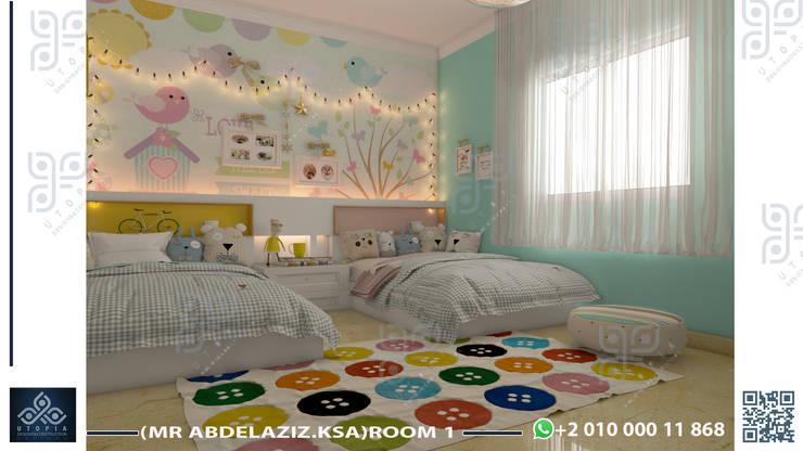 جدة:  غرفة نوم بنات تنفيذ UTOPIA DESIGNS AND CONSTRUCTION