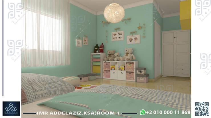 جدة:  غرفة الاطفال تنفيذ UTOPIA DESIGNS AND CONSTRUCTION