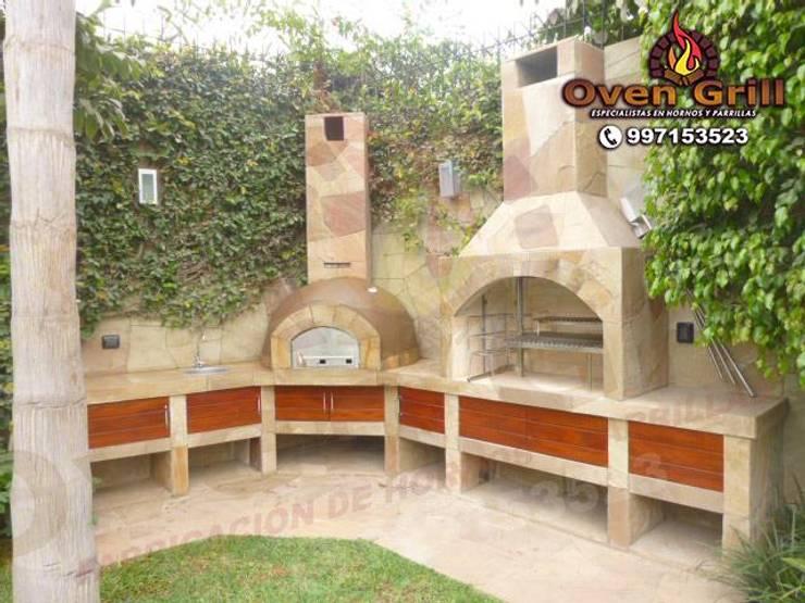 Horno Parrilla en piedra laja:  de estilo  por Oven grill