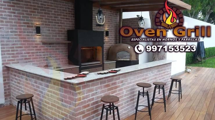 Horno parrilla en ladrillo decorativo: Hogar de estilo  por Oven grill