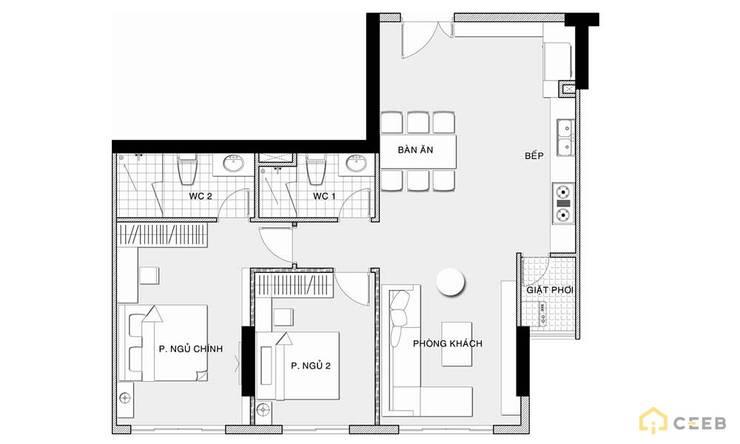 thiết kế căn hộ Novaland hiện đại :   by nội thất căn hộ hiện đại CEEB