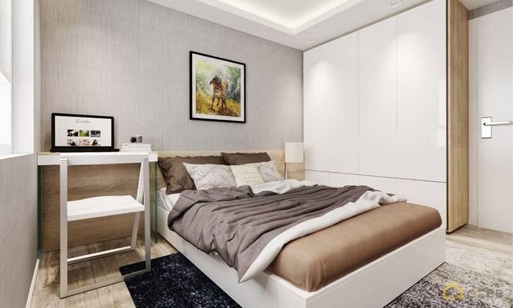 thiết kế phòng ngủ căn hộ Novaland hiện đại :  Phòng ngủ by nội thất căn hộ hiện đại CEEB
