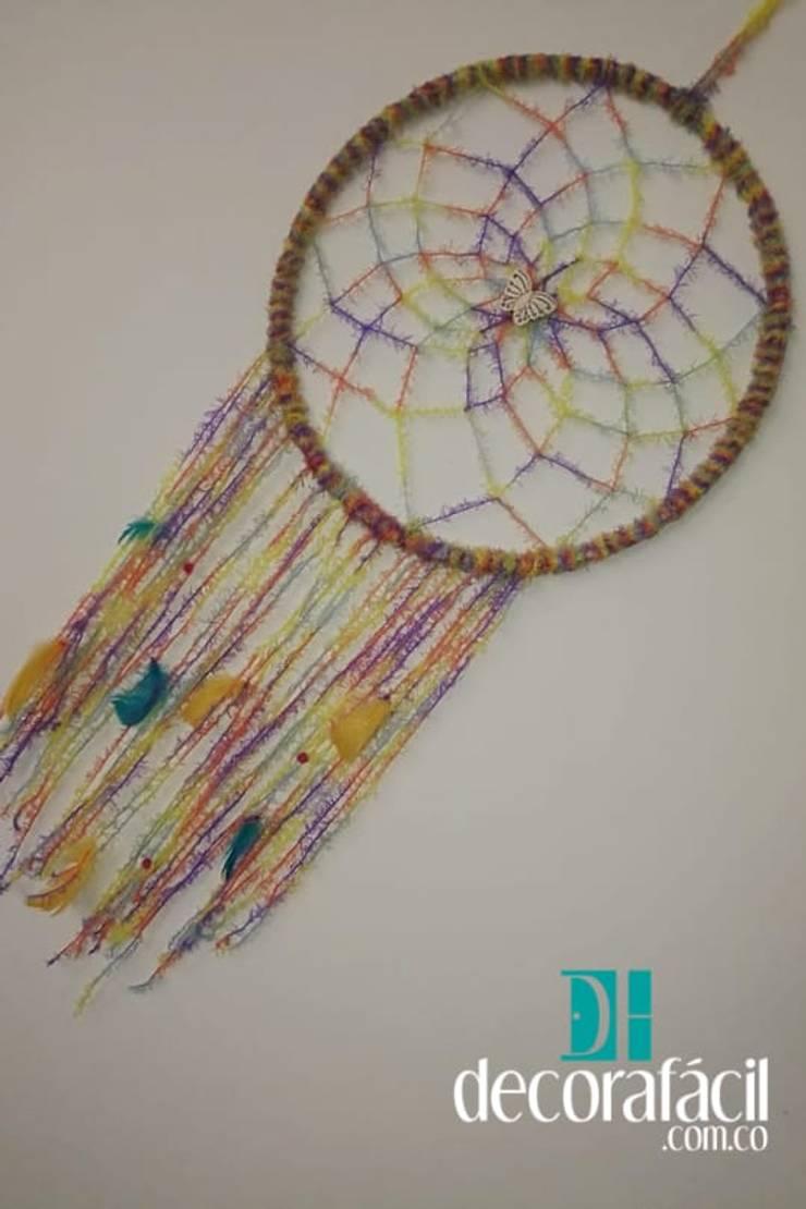 Atrapasueño tejido en lana en crochet: Hogar de estilo  por DECORAFACIL