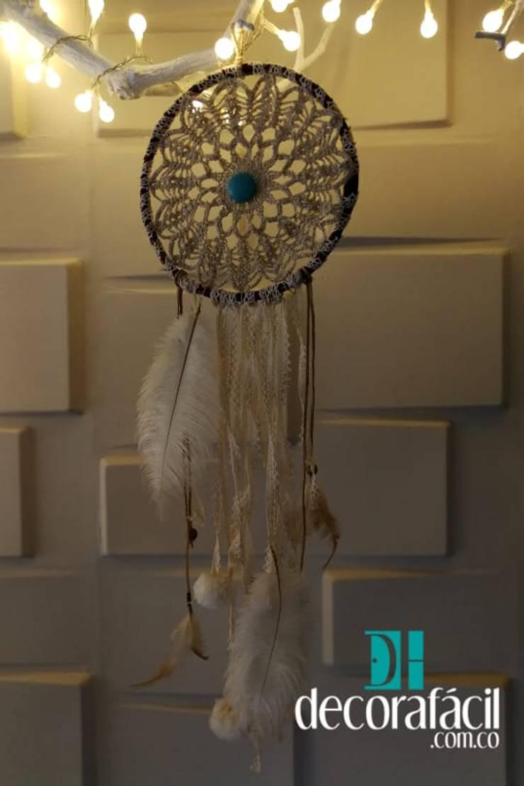 Atrapasueño tejido en hilo en crochet: Hogar de estilo  por DECORAFACIL